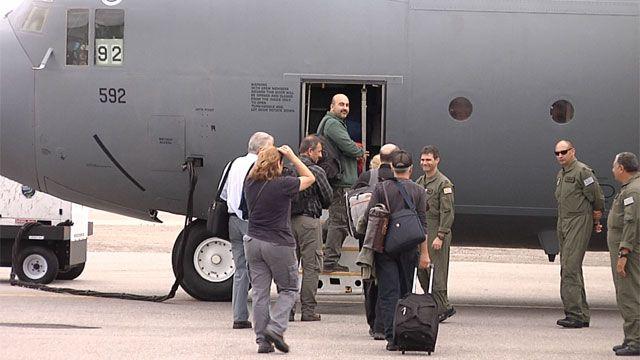Representantes del gobierno partieron a la Base Artigas en la Antártida