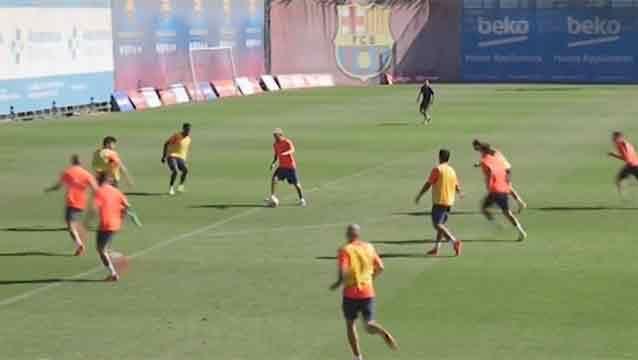 Impresionante: Messi la rompe hasta en los entrenamientos