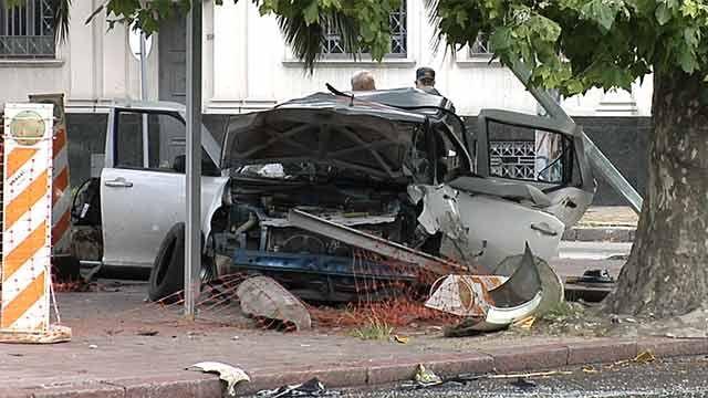 Automovilista murió al chocar contra un semáforo en General Flores