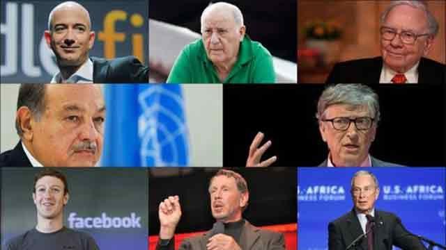 Estos 8 hombres tienen tanto dinero como la riqueza sumada de medio planeta