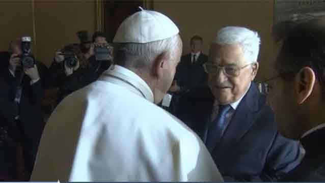 El papa recibió a Abas, que inaugura embajada palestina en el Vaticano
