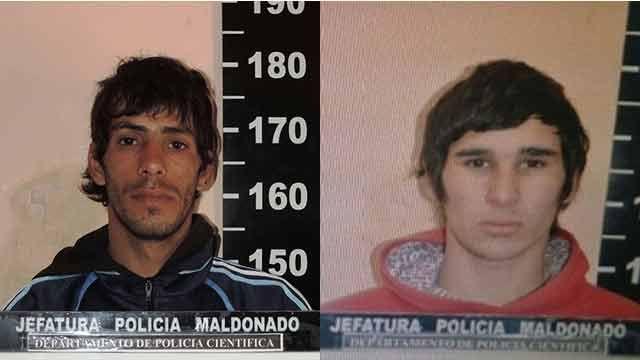 Jefatura de Maldonado difunde fotografías para ubicar a 2 delincuentes