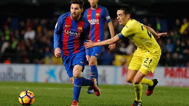 Una genialidad de Messi en el último minuto le permitió empatar al Barça
