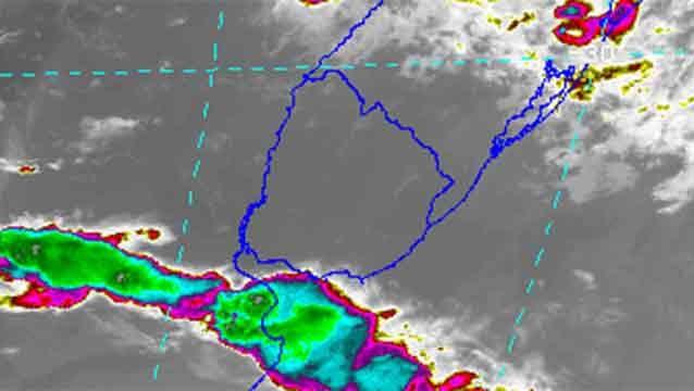 Alerta amarilla por tormentas intensas en toda la costa sur