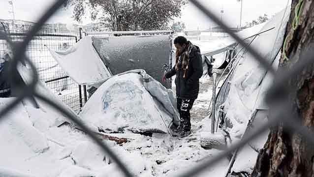 Una glacial ola de frío en Europa provocó una veintena de muertos