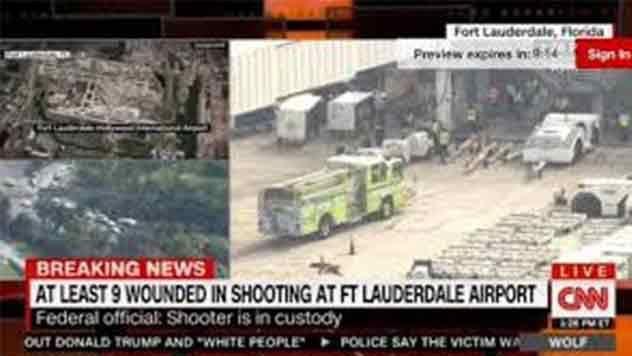 Cinco muertos y ocho heridos tras tiroteo en aeropuerto de Florida, EE.UU.