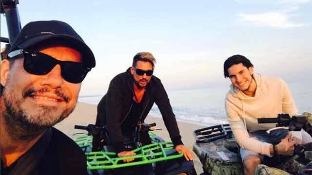 Multa de US$ 800 a Tinelli por andar con su jeep en playa de José Ignacio