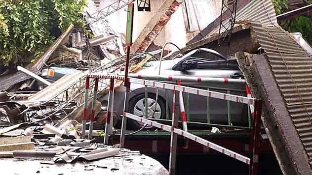 Tres hombres se salvaron de milagro durante los destrozos del temporal