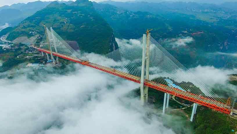 Impresionante: China inauguró el puente colgante más alto del mundo