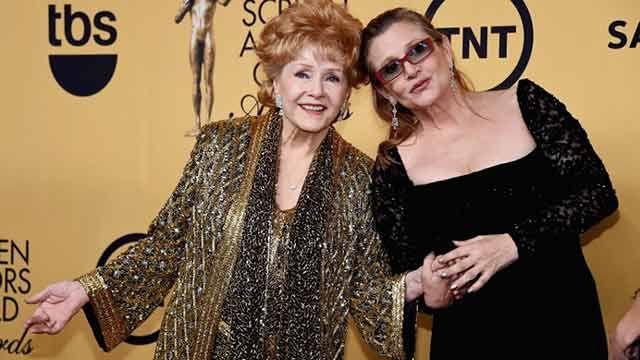 Actriz Debbie Reynolds muere un día después que su hija Carrie Fisher