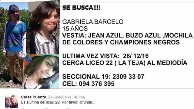 Hallaron a la adolescente que había desaparecido en La Teja