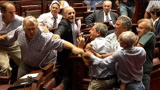 Diputados Courtoisie y Rubio se tomaron a golpes de puño en el Parlamento