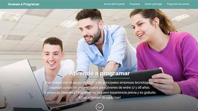 Jóvenes a Programar: curso gratuito para jóvenes de entre 17 y 26 años