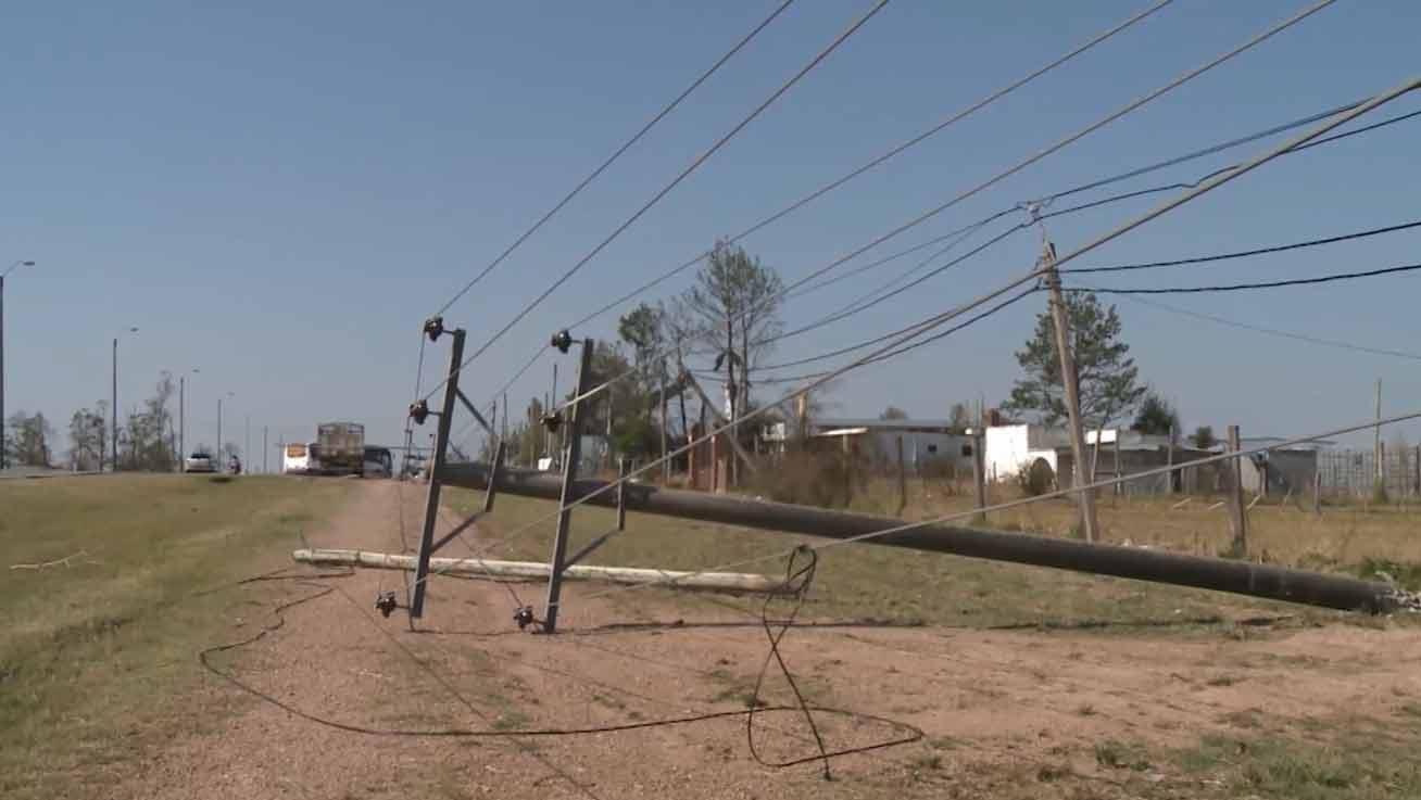 Quedan 12.000 servicios de UTE afectados por los últimos temporales
