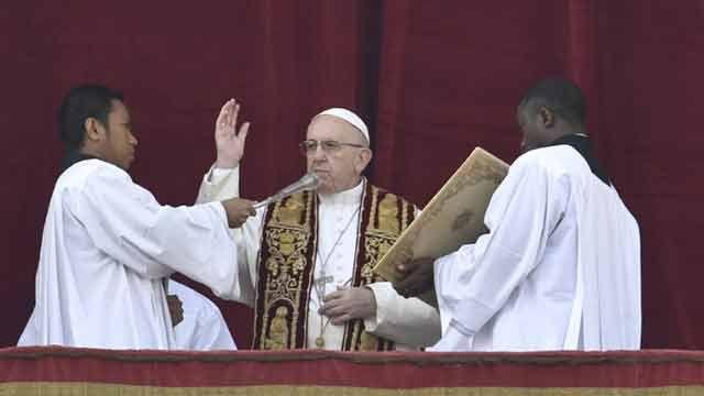 Papa pide fin de la guerra en Siria y conciliación en Colombia y Venezuela