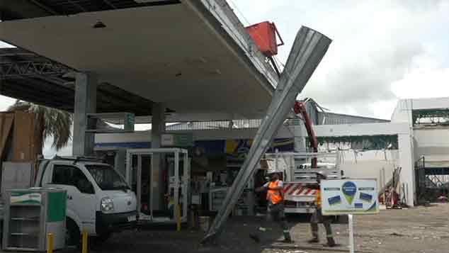 Cámara de seguridad de la estación captó el azote del temporal