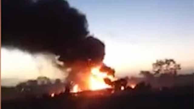 Impresionante accidente de avión en Colombia: cinco personas fallecidas
