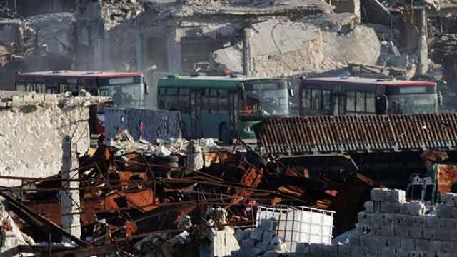 Aplazada la evacuación de Alepo tras ataques armados contra los ómnibus