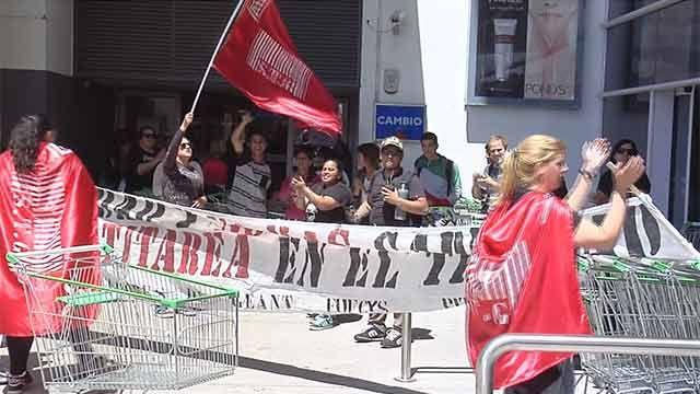 "Sindicato anuncia ""trancazos"" en 100 supermercados antes de las fiestas"