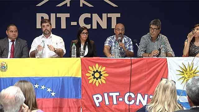 PIT CNT recibió a canciller de Venezuela, rechazaron expulsión del Mercosur