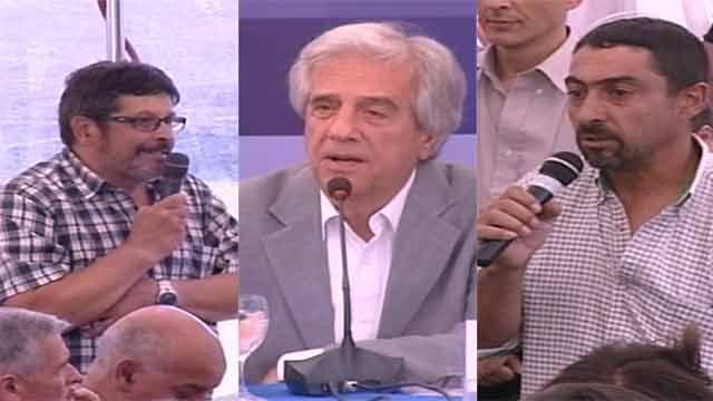 Vecinos y cincuentones hicieron llegar a Vázquez sus reclamos en Flores