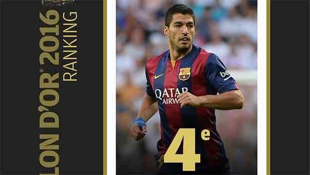 Luis Suárez es el cuarto mejor jugador del mundo