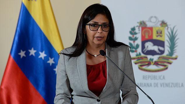 Delcy Rodríguez vendrá a Montevideo a reclamar por suspensión de Venezuela