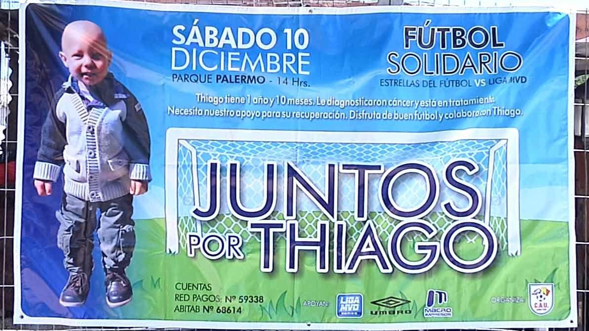 Fútbol solidario en Parque Palermo para colaborar con la familia de Thiago