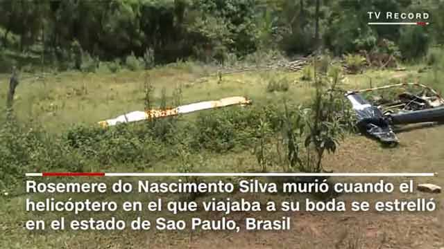 Novia muere en accidente de helicóptero rumbo al altar