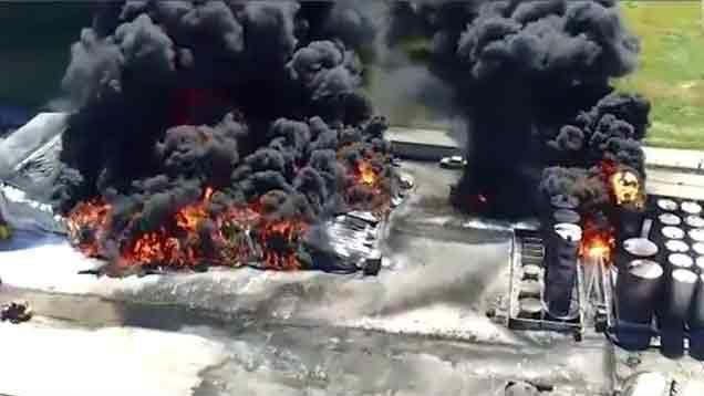 Explosión y fuego en fábrica de químicos en Barros Blancos dejó un herido