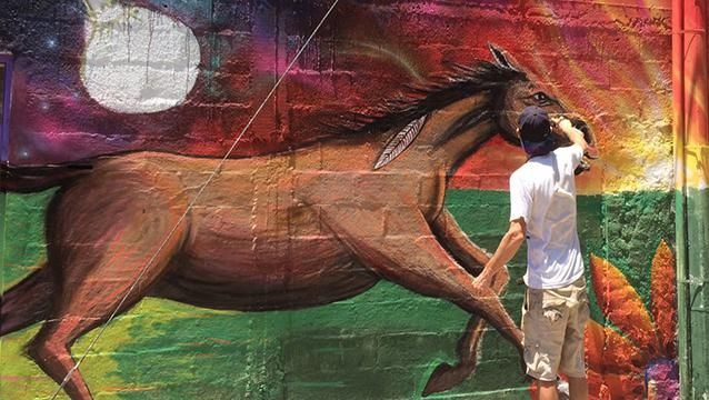 Pintó La Teja, la movida artística que sacudió a un barrio