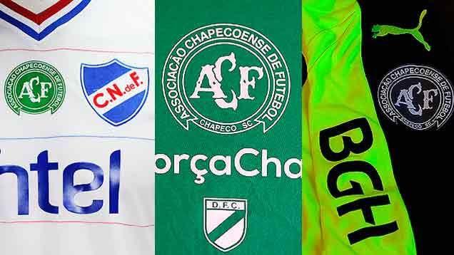 Equipos uruguayos juegan este fin de semana con el escudo de Chapecoense