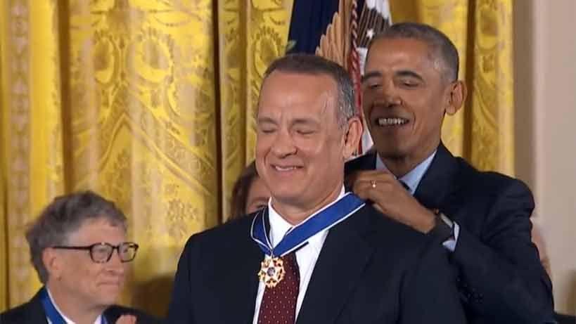 Barack Obama homenajea a famosos actores de Hollywood