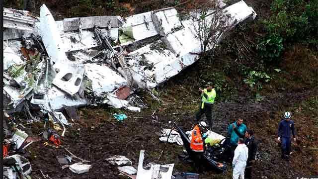 Audio de un piloto que fue testigo de caída libre del avión de Chapecoense
