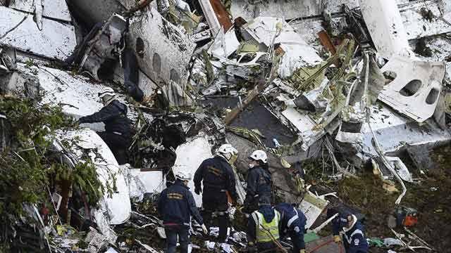 Se estrelló en Colombia avión con equipo de fútbol brasileño Chapecoense
