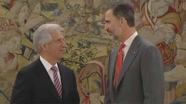 Tabaré Vázquez mantuvo una reunión con Felipe VI en España