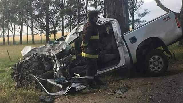 Choque entre camioneta y ómnibus de pasajeros dejó un fallecido en Colonia