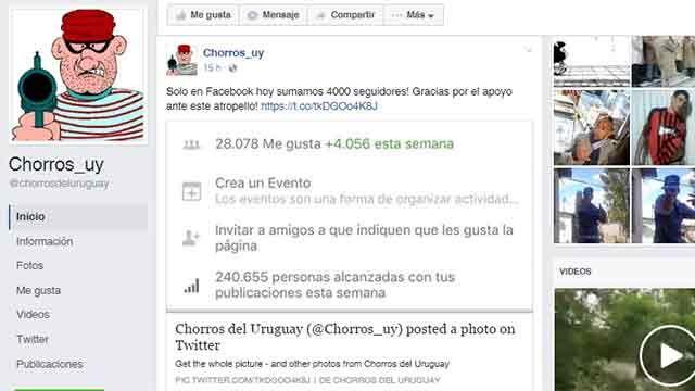Chorros_uy sumó 4.000 seguidores tras denuncia del Ministerio del Interior