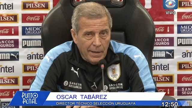 Tabárez: Vamos a jugar contra Chile sabiendo que tenemos tres puntos más