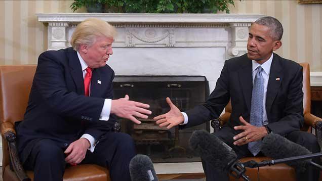 Trump pidió a Obama mantenerse cerca y tener su consejo