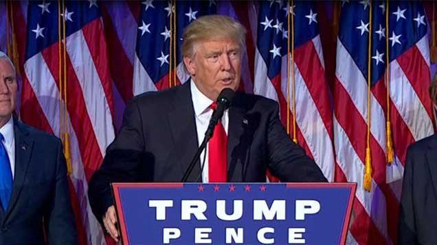 El primer discurso de Trump como presidente electo fue conciliador