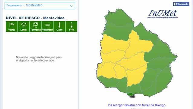 Meteorología cambió su alerta: ahora es amarilla y para el centro del país