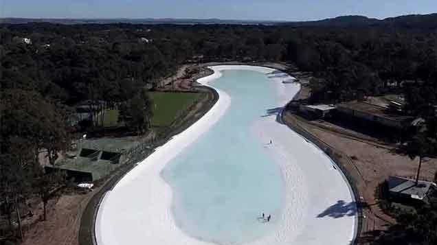 Lanzan la primera laguna de aguas cristalinas del país