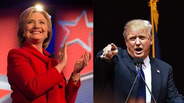 Clinton y Trump se disputan voto a voto en elecciones históricas