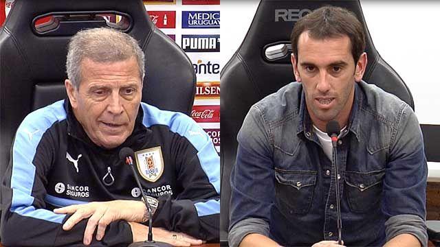 Tabárez y Godín analizaron la problemática de la violencia en el fútbol