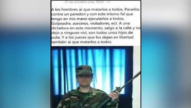 Amenazas a hombres por Facebook: mujer soldado denunció hackeo de su cuenta