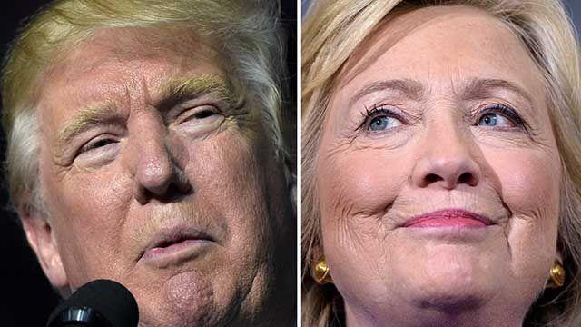 Hillary queda por debajo de Trump por un punto