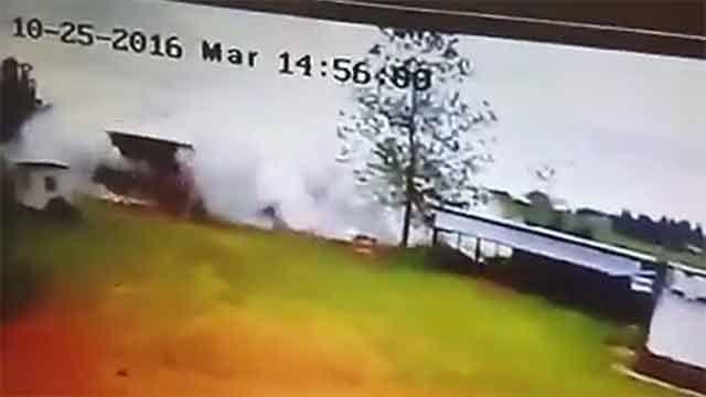 Impactantes imágenes del momento de la explosión en depósito de pirotecnia