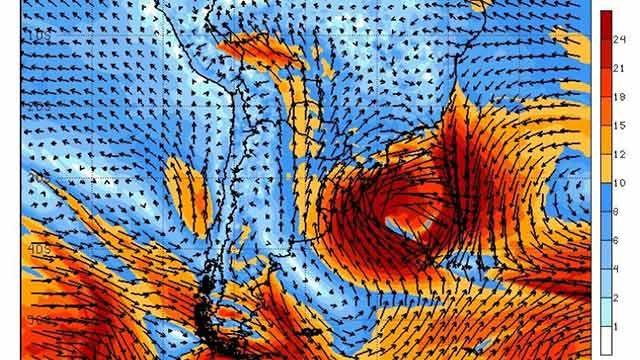 Alerta de ciclón extratropical para Uruguay, según agencia Metsul