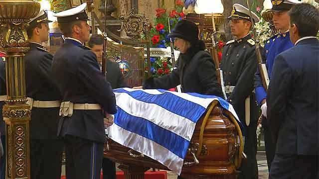 El último adiós a Jorge Batlle con encendido discurso de Luis Hierro